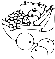 Fruit black and white black and white clipart of fruits logo more 3 WikiClipArt