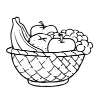 Fruit black and white apple clipart black and white fruit