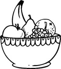 Fruit Clipart Black And White - 60 cliparts