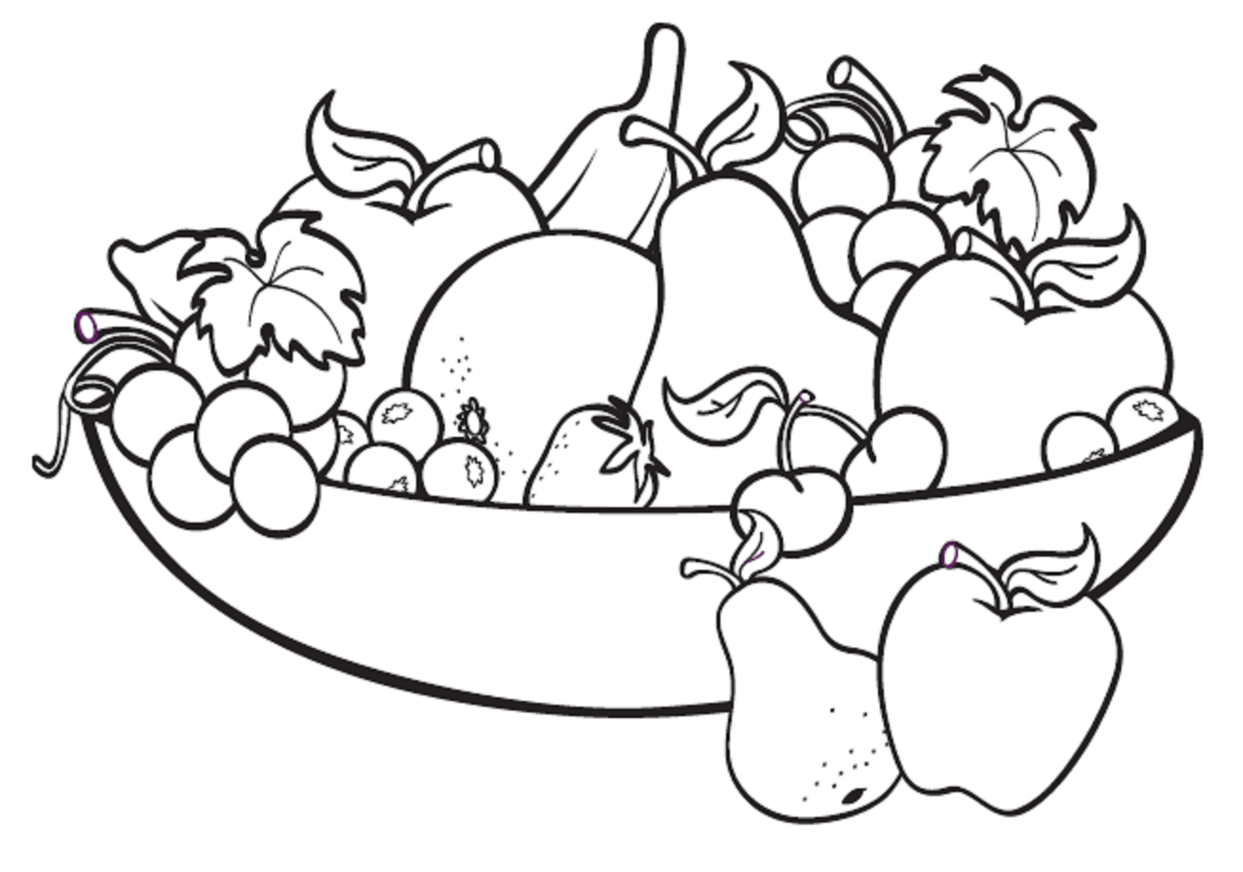 Fruit Black And White Fruit And Vegetable Clipart Black