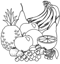 Fruit Clipart Black And White 60 cliparts