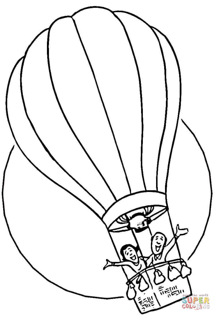 Hot air balloon black and white hot air balloon coloring