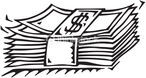 money black and white stack of