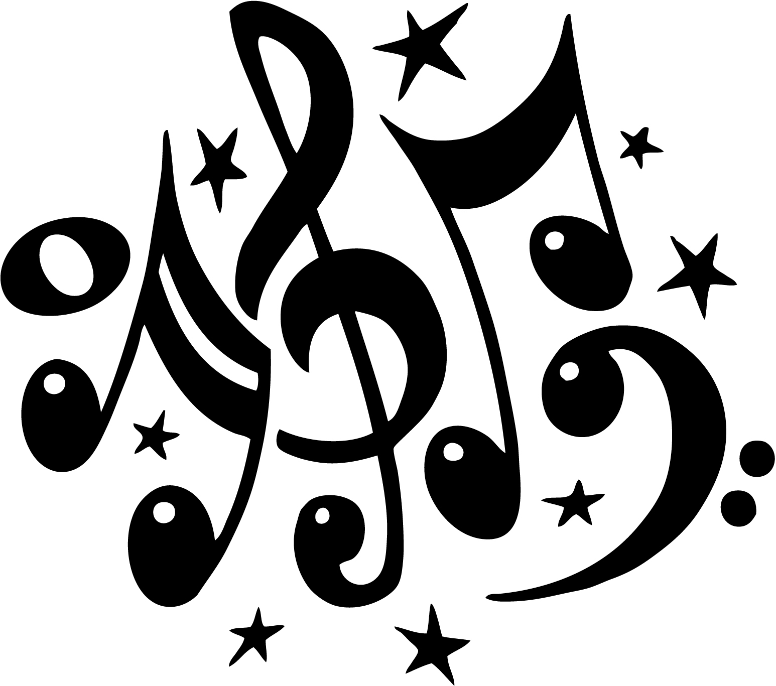hight resolution of music notes black and white free musical note clip art music notes clipart famous and free