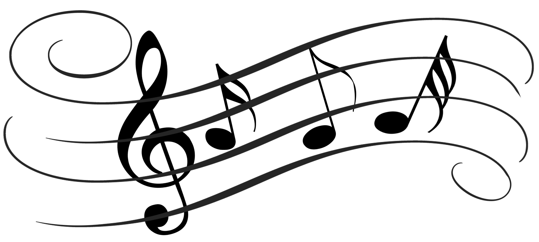 Music Notes Black And White Musical Instruments Black And