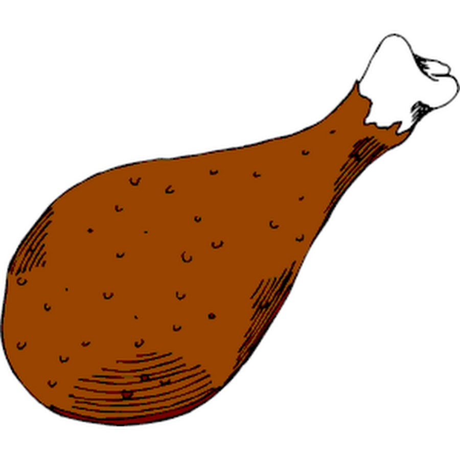 hight resolution of fried chicken leg clipart the cliparts
