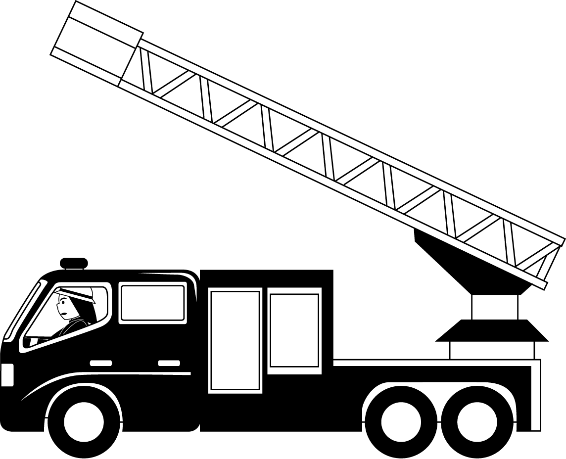 Truck Black And White Fire Truck Clipart Black And White