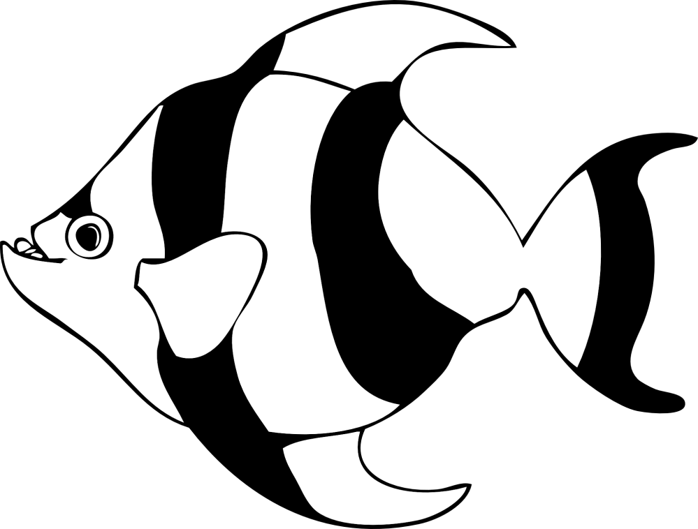 medium resolution of fish black and white fish outline clipart black and white free