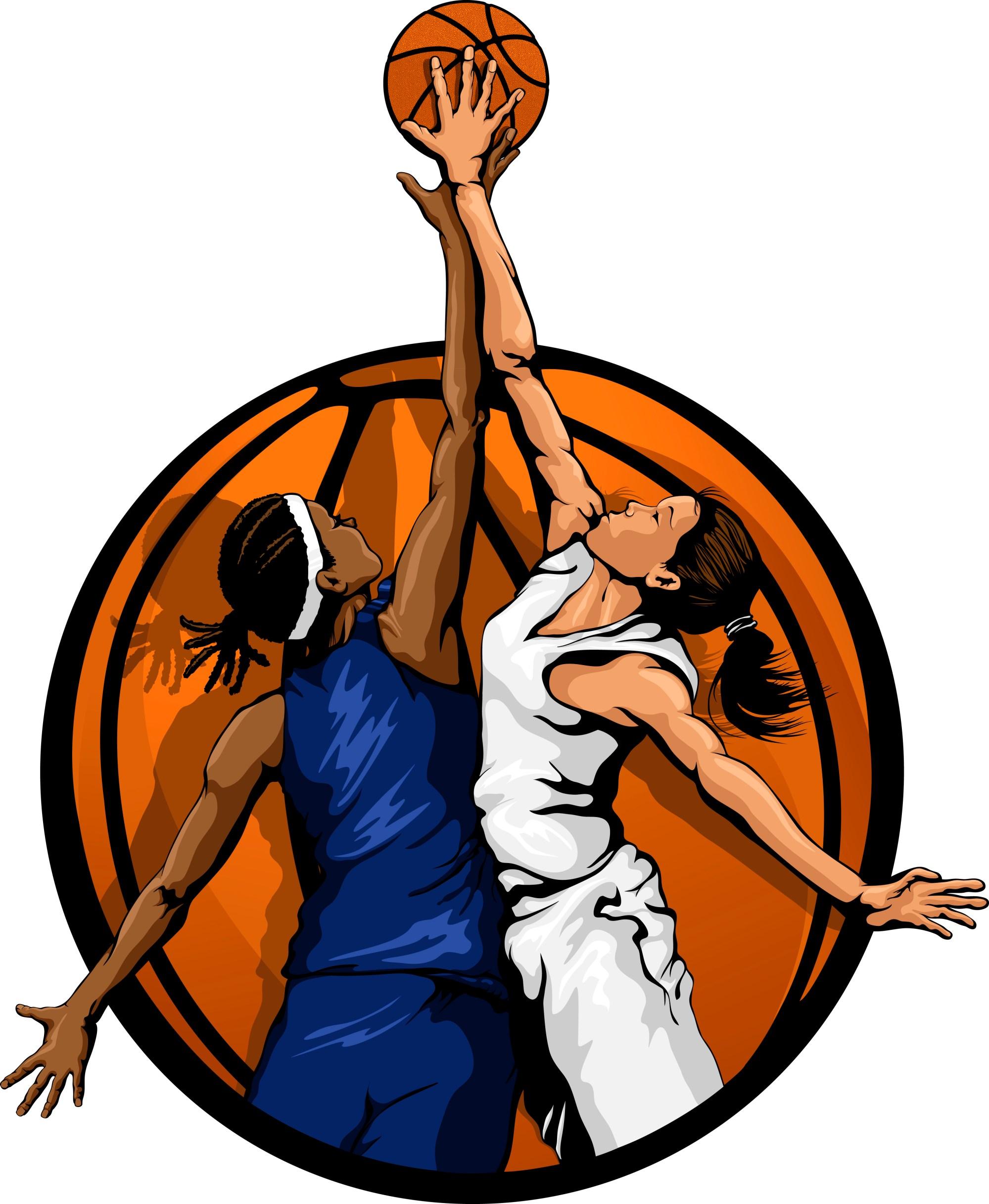 hight resolution of girls basketball home clip art