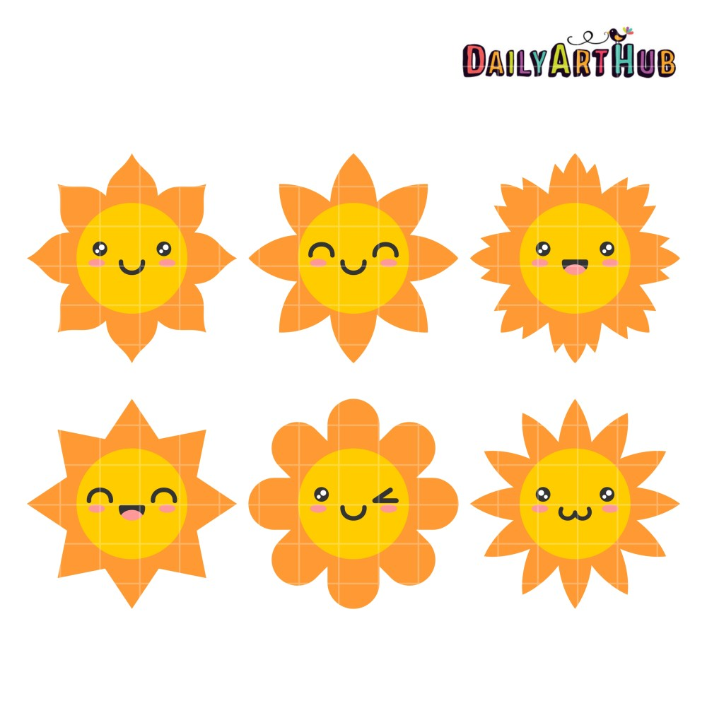 medium resolution of happy sun clip art set daily hub