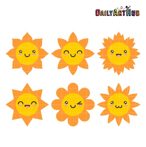 small resolution of happy sun clip art set daily hub