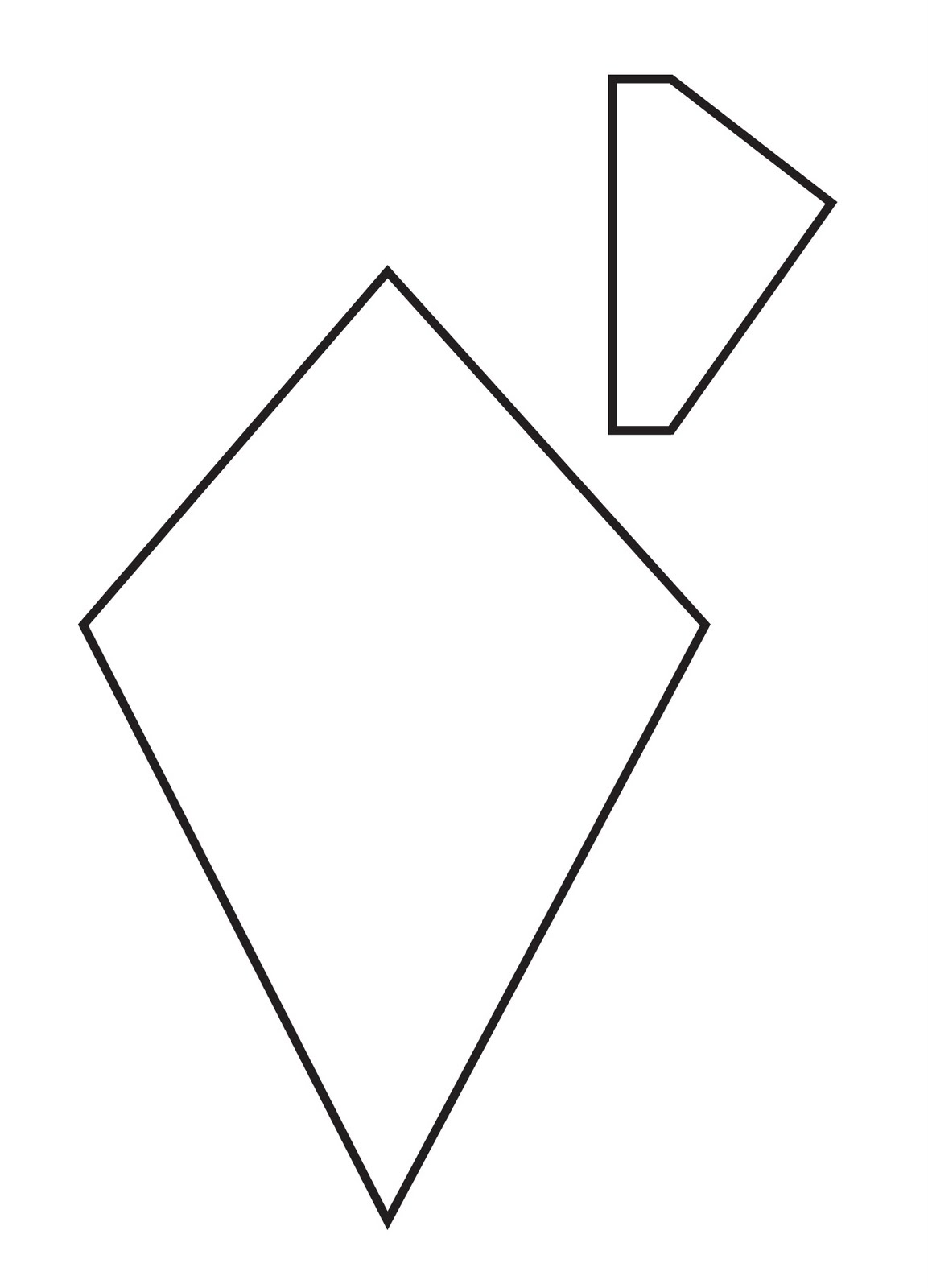 Kite Black And White Kite Outline With Clipart Coloring 2