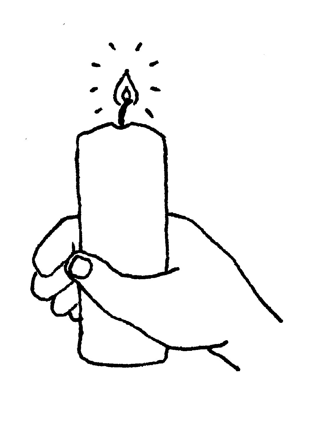 Candle Black And White Birthday Candle Clipart Black And