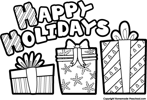 present black and white free holiday