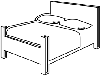 Bed black and white free black and white bedroom clipart 1 page of clip art WikiClipArt
