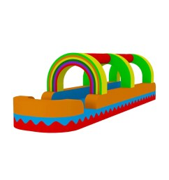 water slide rainbow bouncer jumper bounce house castle water clipart [ 1200 x 1200 Pixel ]