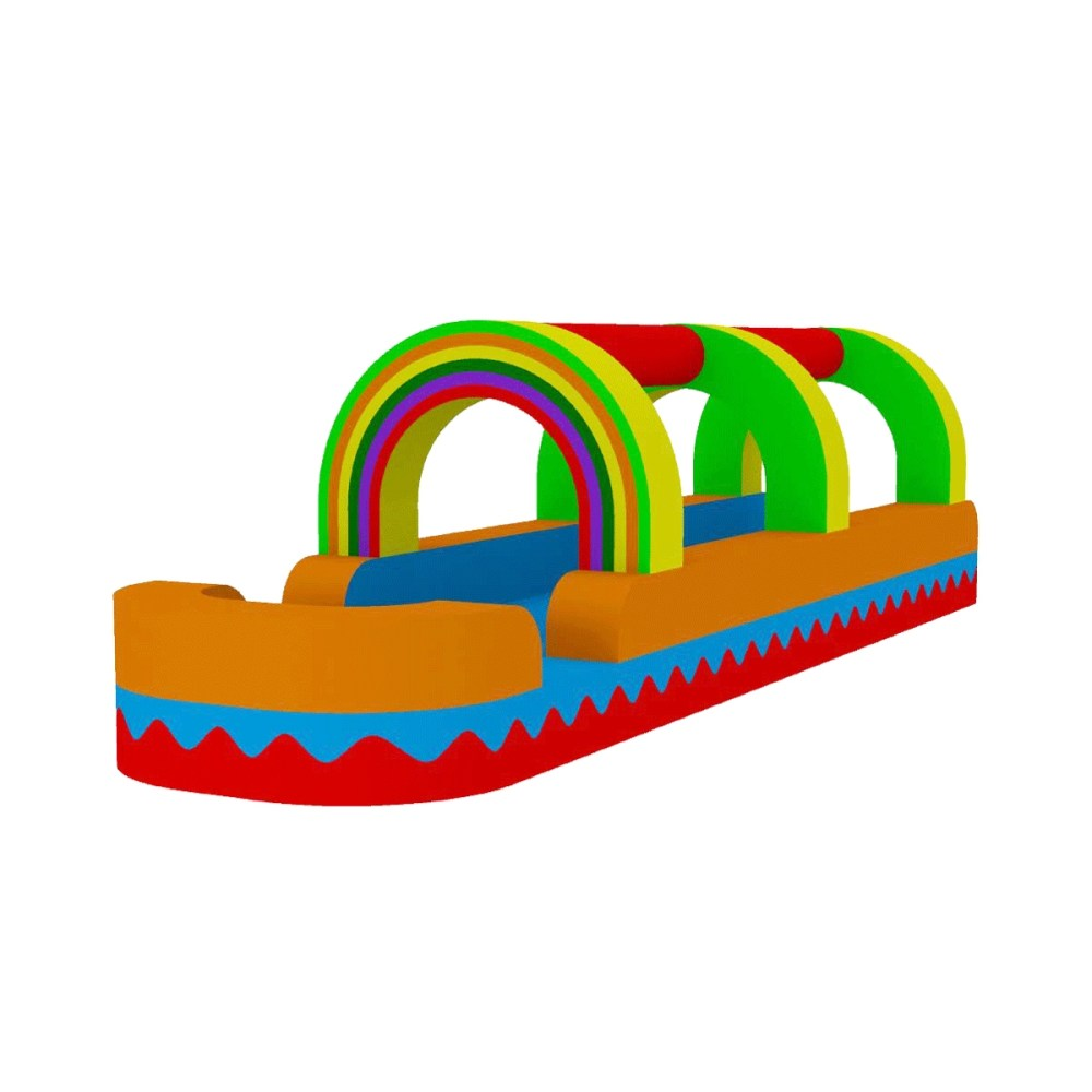 medium resolution of water slide rainbow bouncer jumper bounce house castle water clipart