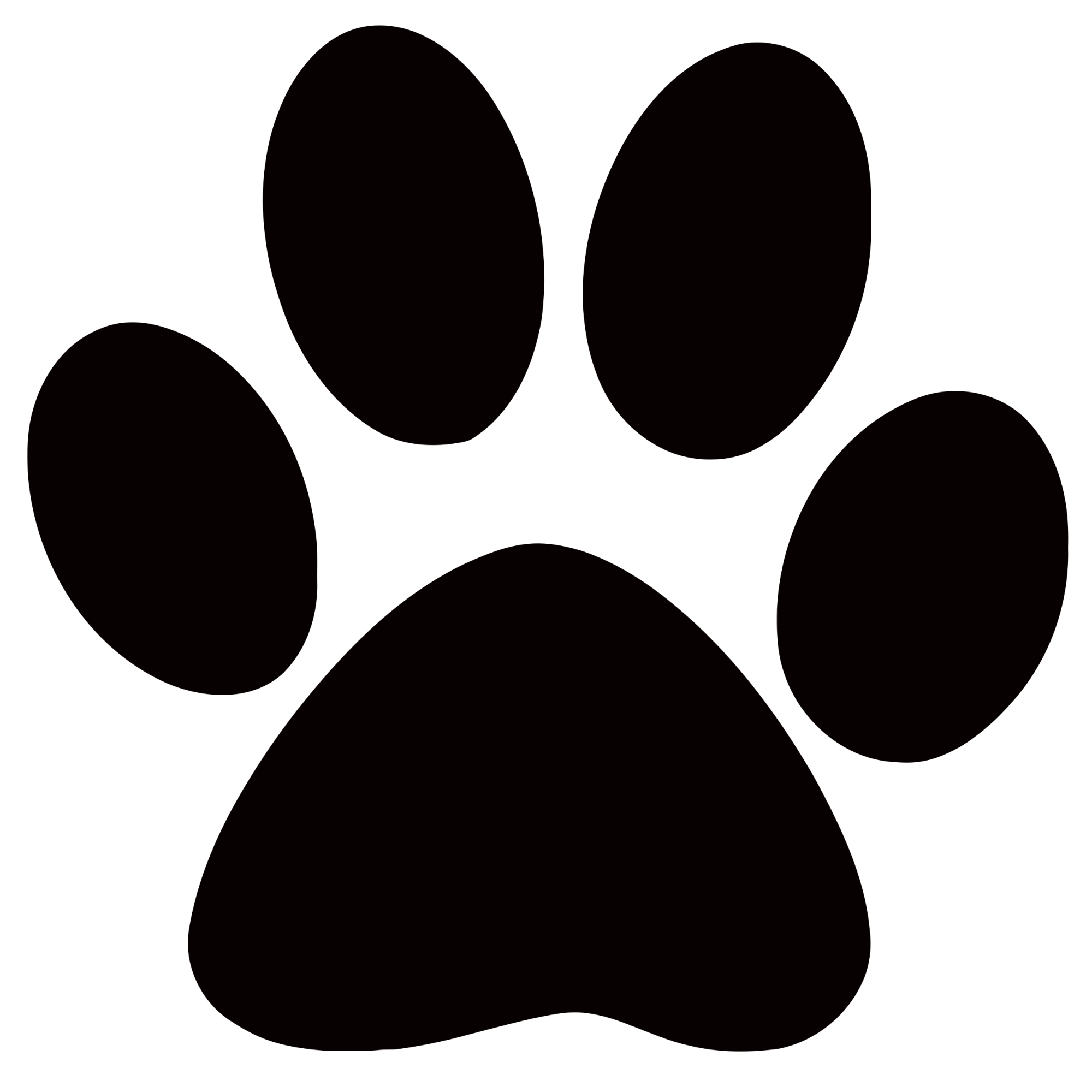 hight resolution of dog paw prints panther paw print clip art clipart locker
