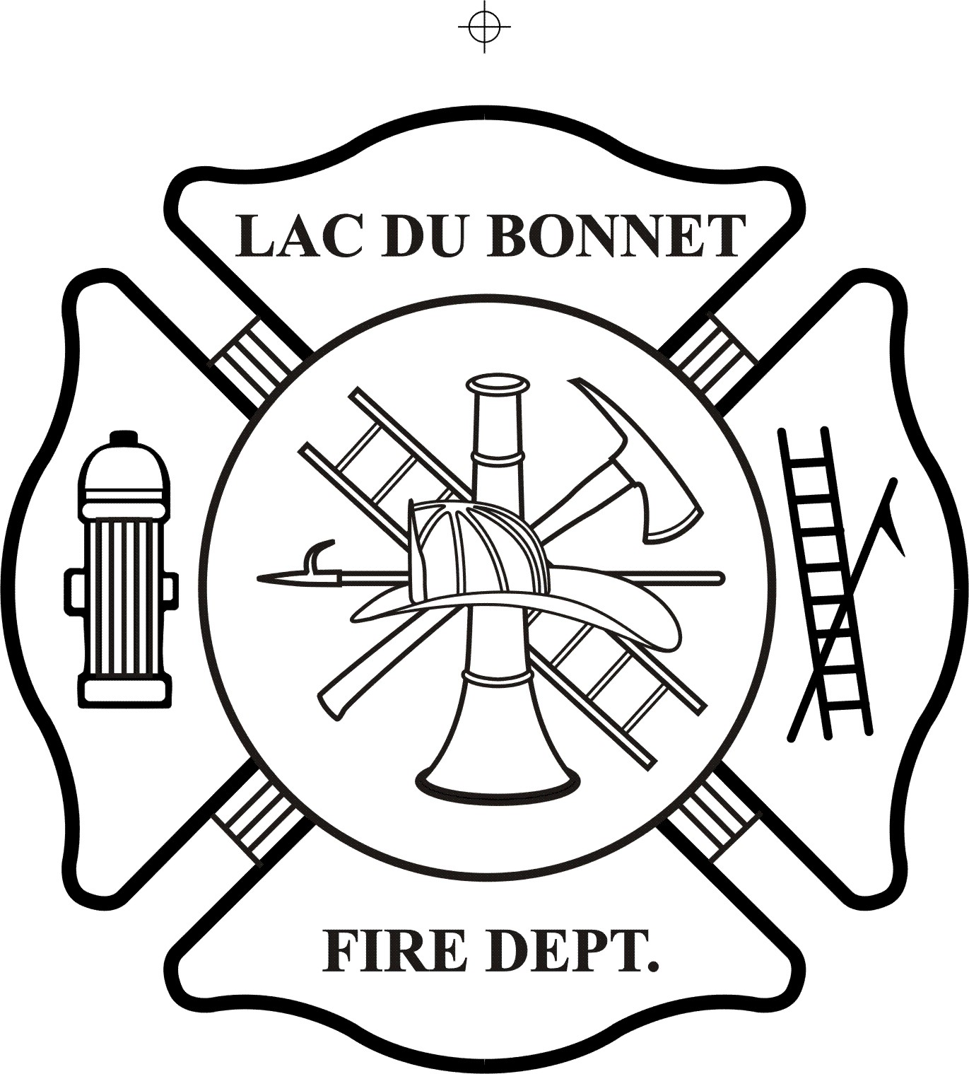 Firefighter Black And White Fire Department Symbols Clip