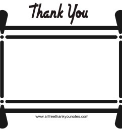 thank you black and white thank you card clipart black and white clipartxtras 2 [ 1771 x 1252 Pixel ]