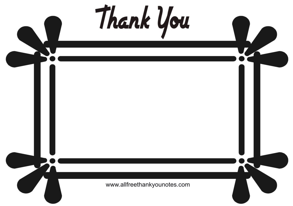 medium resolution of thank you black and white thank you card clipart black and white clipartxtras 2