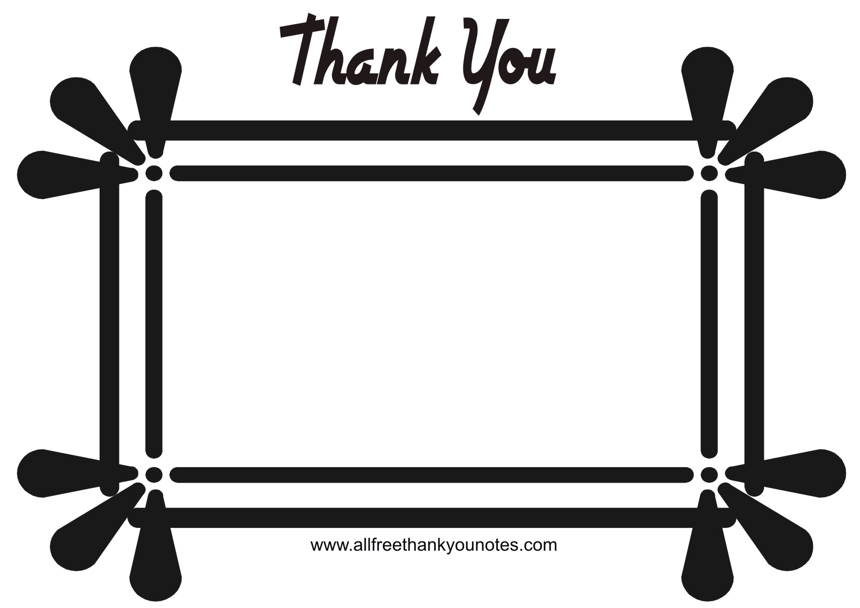 hight resolution of thank you black and white thank you card clipart black and white clipartxtras 2
