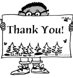 thank you black and white thank you free thank volunteer clip art clipart images 5 [ 934 x 892 Pixel ]
