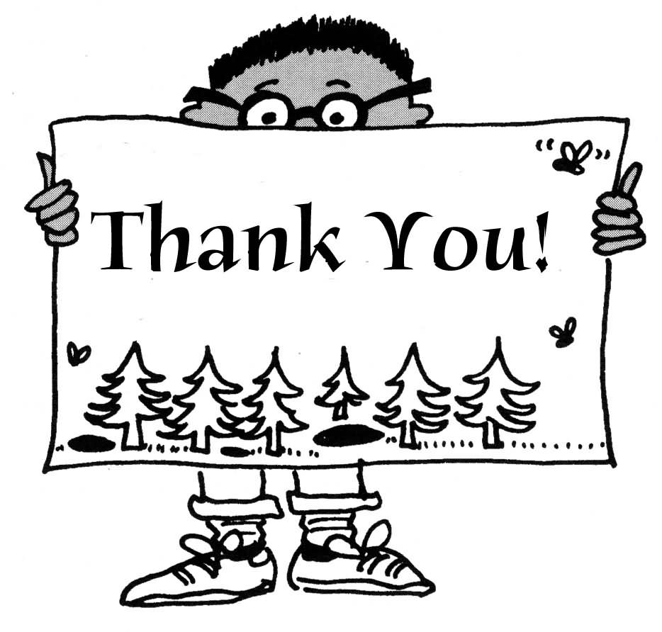 hight resolution of thank you black and white thank you free thank volunteer clip art clipart images 5