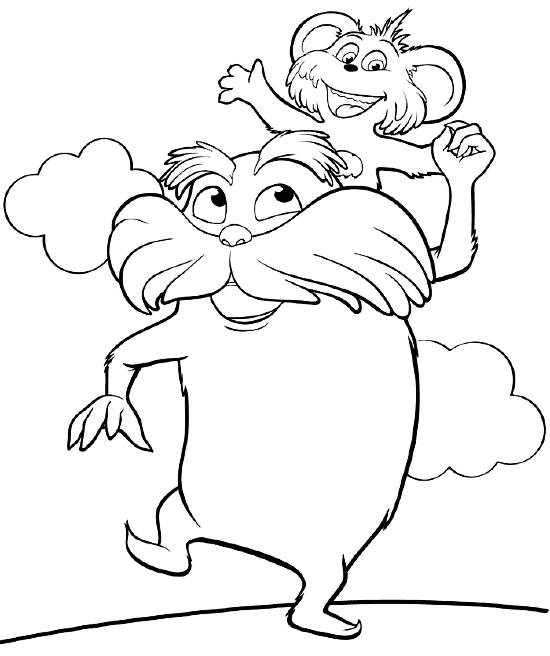 Lorax Characters Clipart