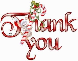 Christmas thank you thanks you images on animation