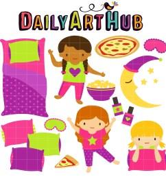 fun slumber party clip art set daily hub free [ 2509 x 2500 Pixel ]