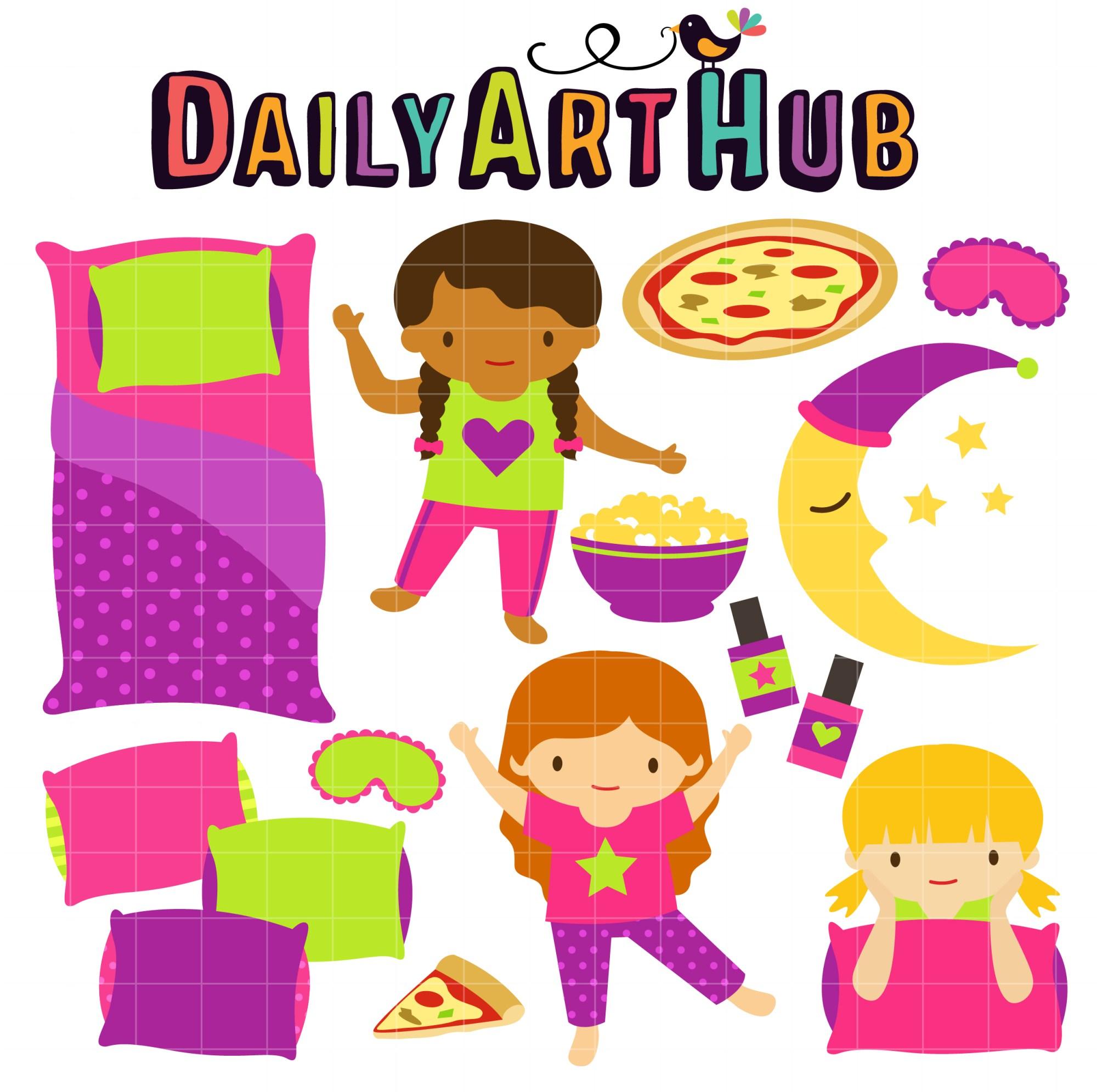 hight resolution of fun slumber party clip art set daily hub free