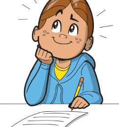 child thinking writing and thinking clipart clipartxtras [ 1006 x 1193 Pixel ]