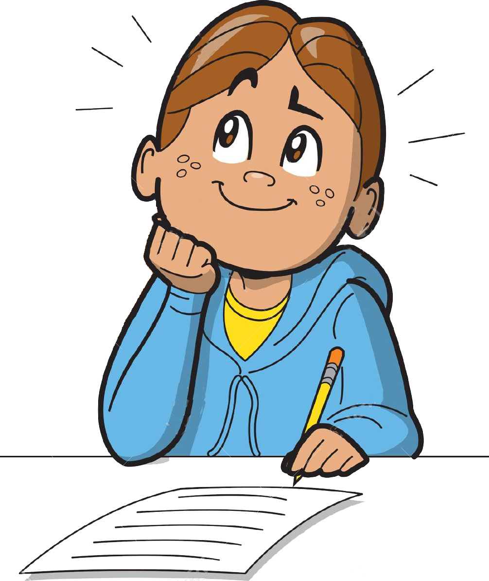 hight resolution of child thinking writing and thinking clipart clipartxtras