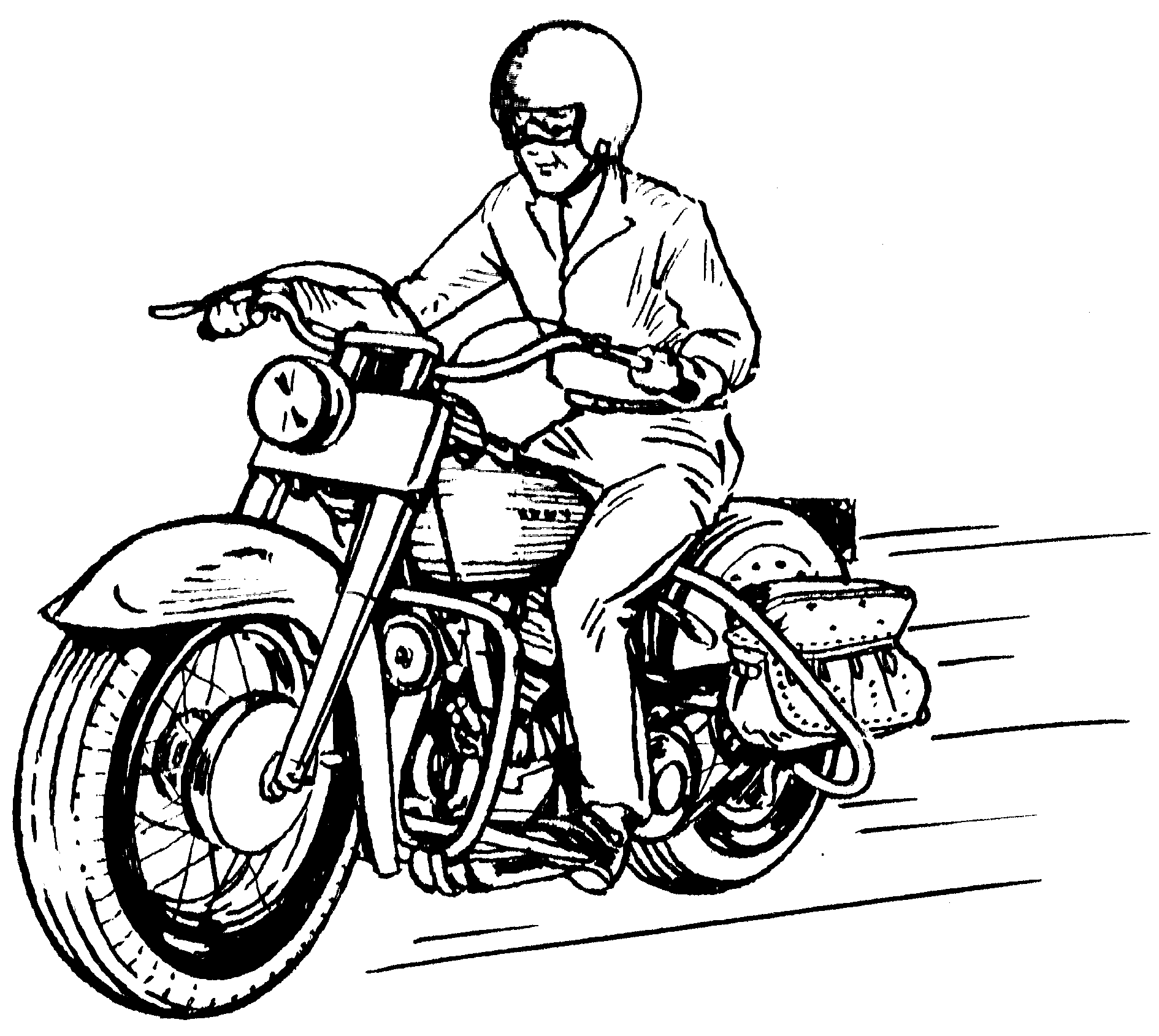 Motorcycle Clipart Black And White