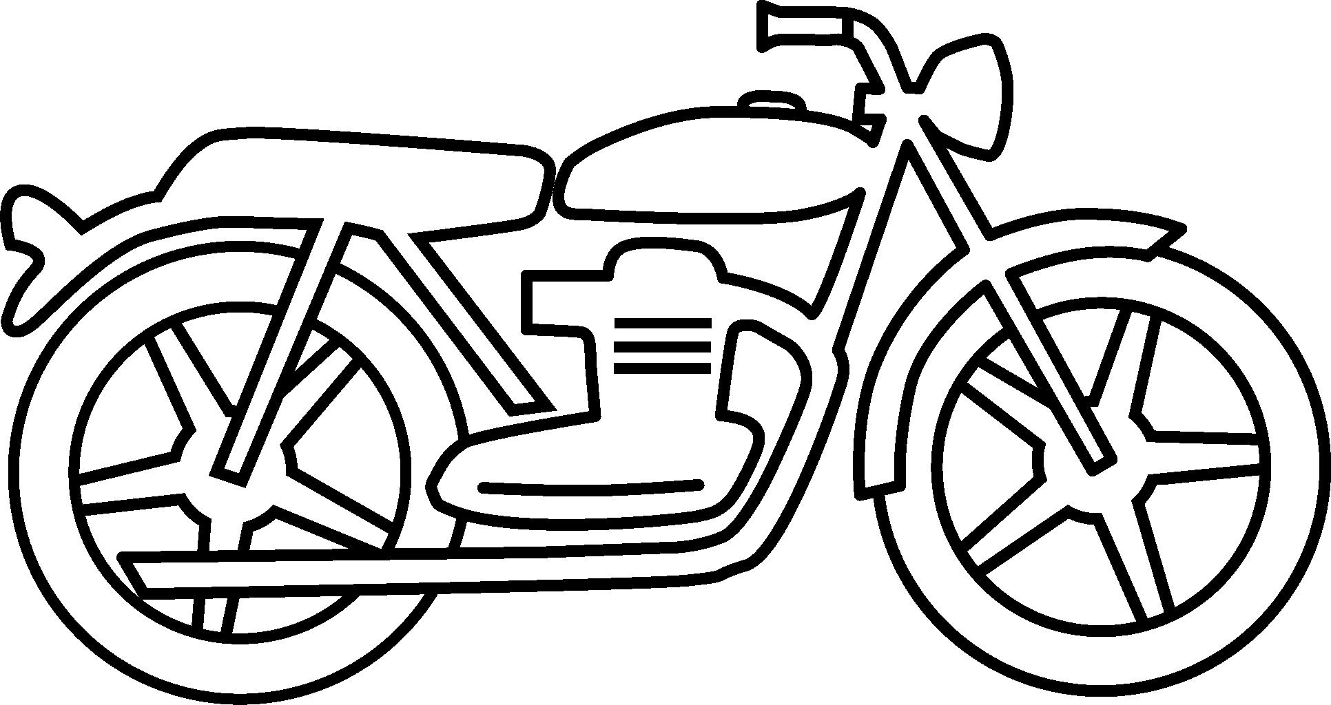 Motorcycle Black And White Motorcycle Clipart Black And