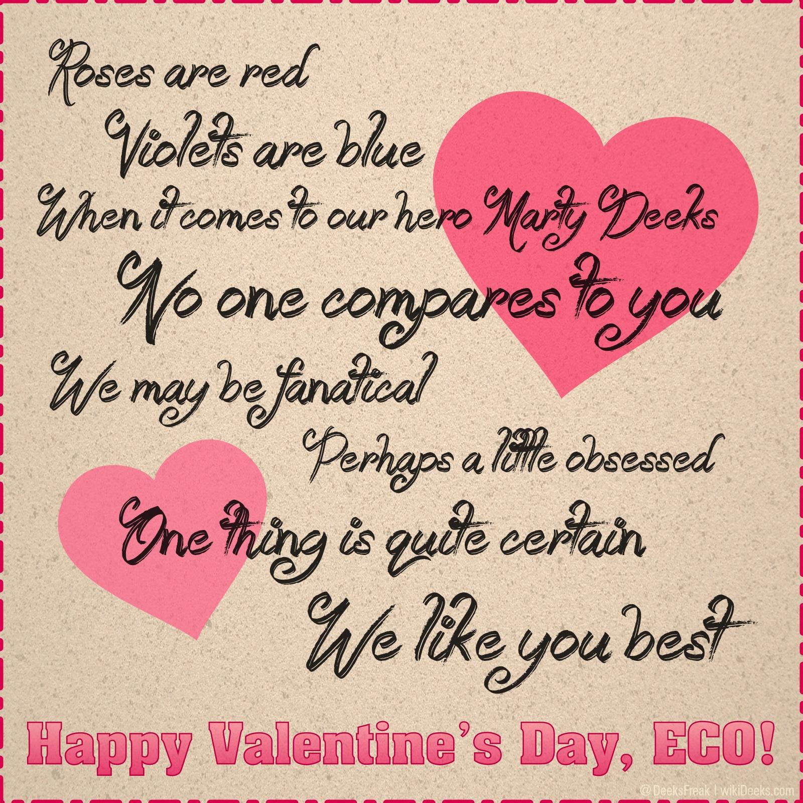 Happy Valentine S Day Eco Wikideeks
