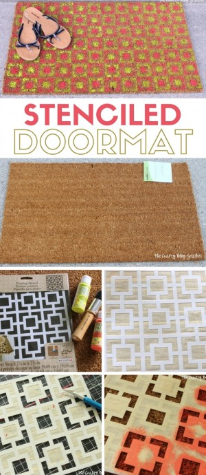 stenciled-doormat-2-300x690 diy projects