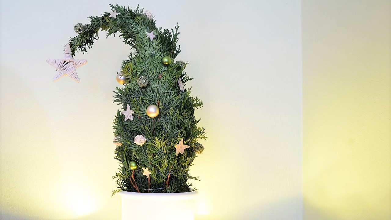 how to make thuja christmas decoration tree