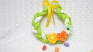 how to sew an easter wreath from cloth
