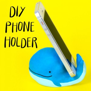 whale phone holder craft