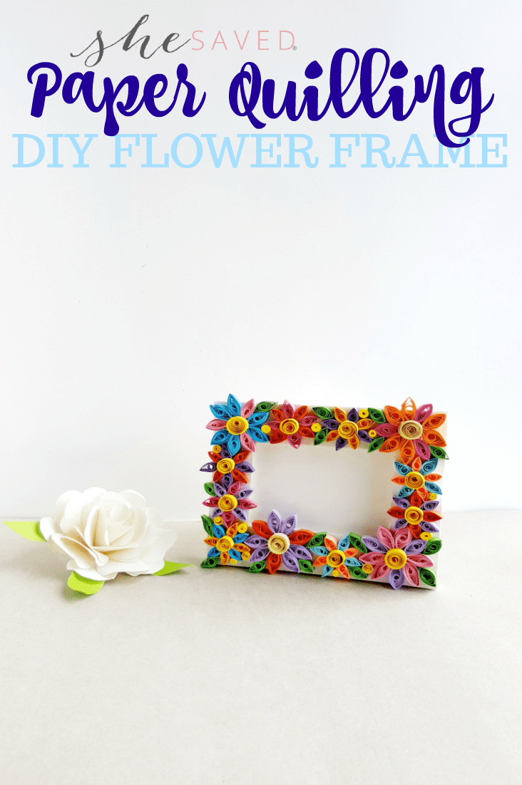 Easy Paper Quilling Craft Quilled Flower Frame Shesaved