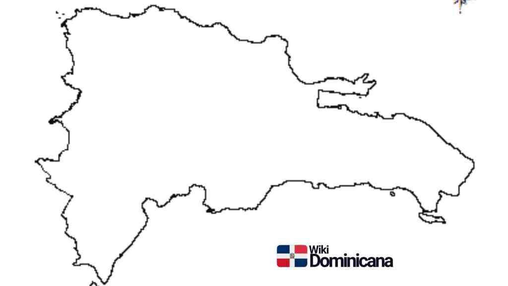 Mapa vacio para colorear de República Dominicana