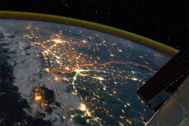 صور-من-الفضاء-الحدود-بين-الهند-وباكستان