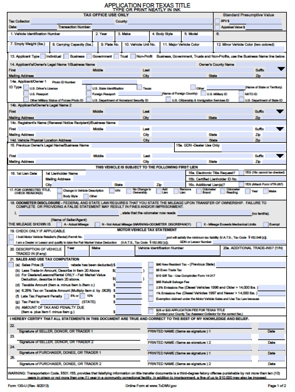 texas motor vehicle transfer notification form | caferacer.1firts.com