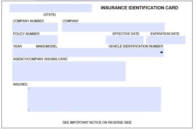 geico insurance card template download free download