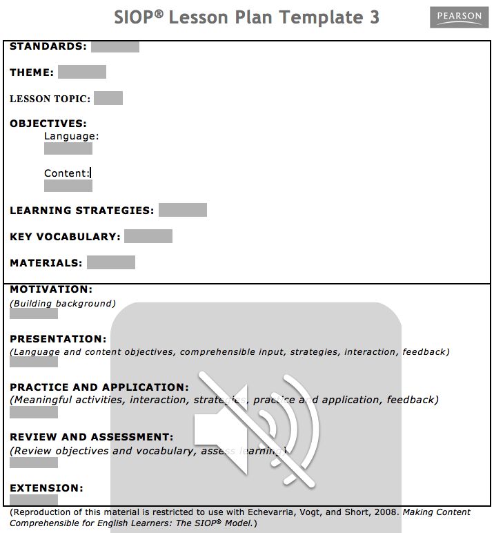 Download SIOP Lesson Plan Template 1 2 3 WikiDownload
