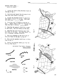 Printables. Weather Map Worksheet. Mywcct Thousands of