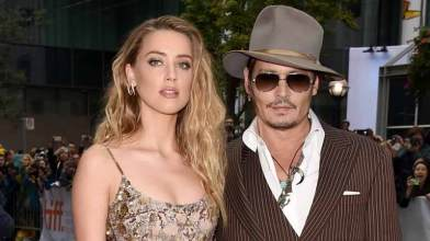 Amber with Johnny Depp
