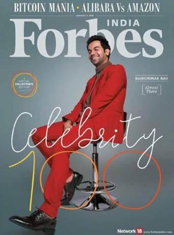 Rajkummar Raon on cover of Forbes